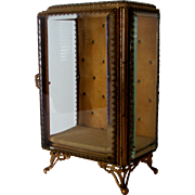 Beveled Glass Vintage  Display Cabinate