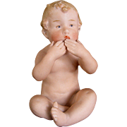 Gebruder Heubach Piano Baby Blowing Kiss