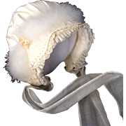 Vntage Silk and Swans Down Baby / Doll Bonnet
