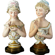 Antique Old Paris Busts