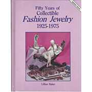 "1992 Book "" Fifty Years of Collectible Fashion Jewelry - 1925-1957"" by Lillian Baker"
