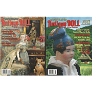 "4 Issues of ""Antique Doll Collector"" Magazine"