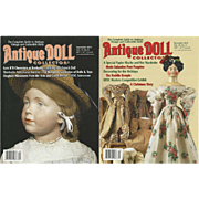 "4 issues ""Antique Doll Collector"" Magazine"