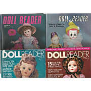 "4  Vintage ""Doll Reader "" Magazines"
