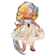 "Nancy Ann Storybook Doll Molded Sock ""Lucy Locket:"" box"
