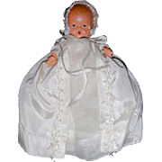 "Nancy Ann Storybook Baby "" Christening Long Dress and Bonnet"" #235"