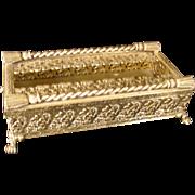 Vintage Hollywood Regency, Matso,n Stylebuilt Gold Plate Tissue Holder