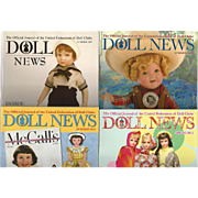 "4 Vintage Issues of UFDC ""Doll News"""