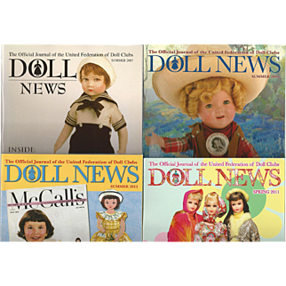 """4 Vintage Issues of UFDC """"Doll News"""""""