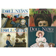 "4 Vintage Issues of UFDC ""Doll News"" magazine"