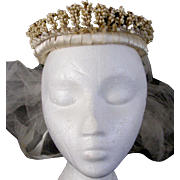 "1930""s Wax Floral Wedding Crown/Tiara/ Veil"
