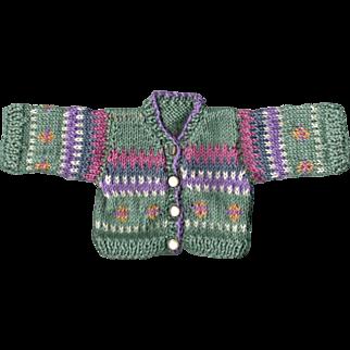 Hand Knit Wool Doll Sweater