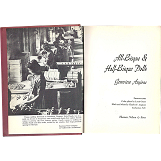 """1967 Book """"All Bisque and Half Bisque Dolls"""" by Genevieve Angione"""
