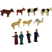 Erzgebirge Putz Animals and Figures for Ark or Display