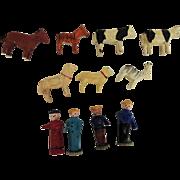 Erzgebirge Putz Animals and Figures for Ark or Display