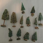 Vintage Miniature Trees for Christmas Scene
