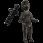 Two Tiny Black Frozen Charlotte Bathing Dolls