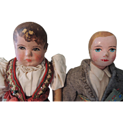 Two Cloth Bing Type Dolls for Repair