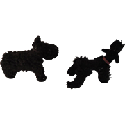 Two Miniature Black Dog Companions