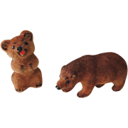 Pair of Little German Kunstlerschutz Bears with Labels