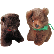 Pair of Real Fur German Sitting Bears
