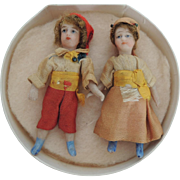 Lovely Tiny Pair of French SFBJ Lilliputian Children