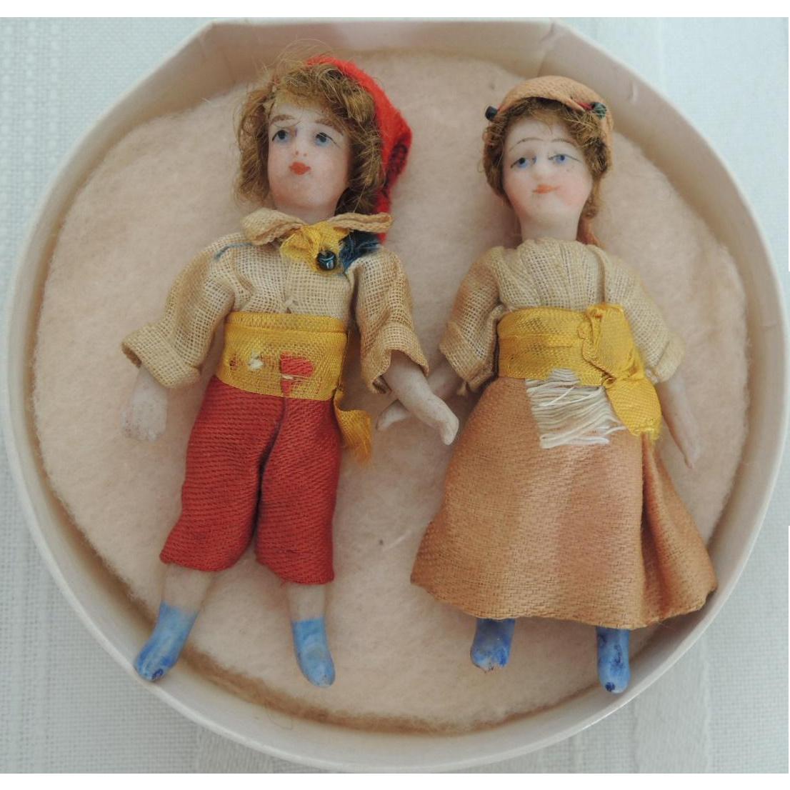 Lovely Tiny Pair of French SFBJ Lilliputian Children