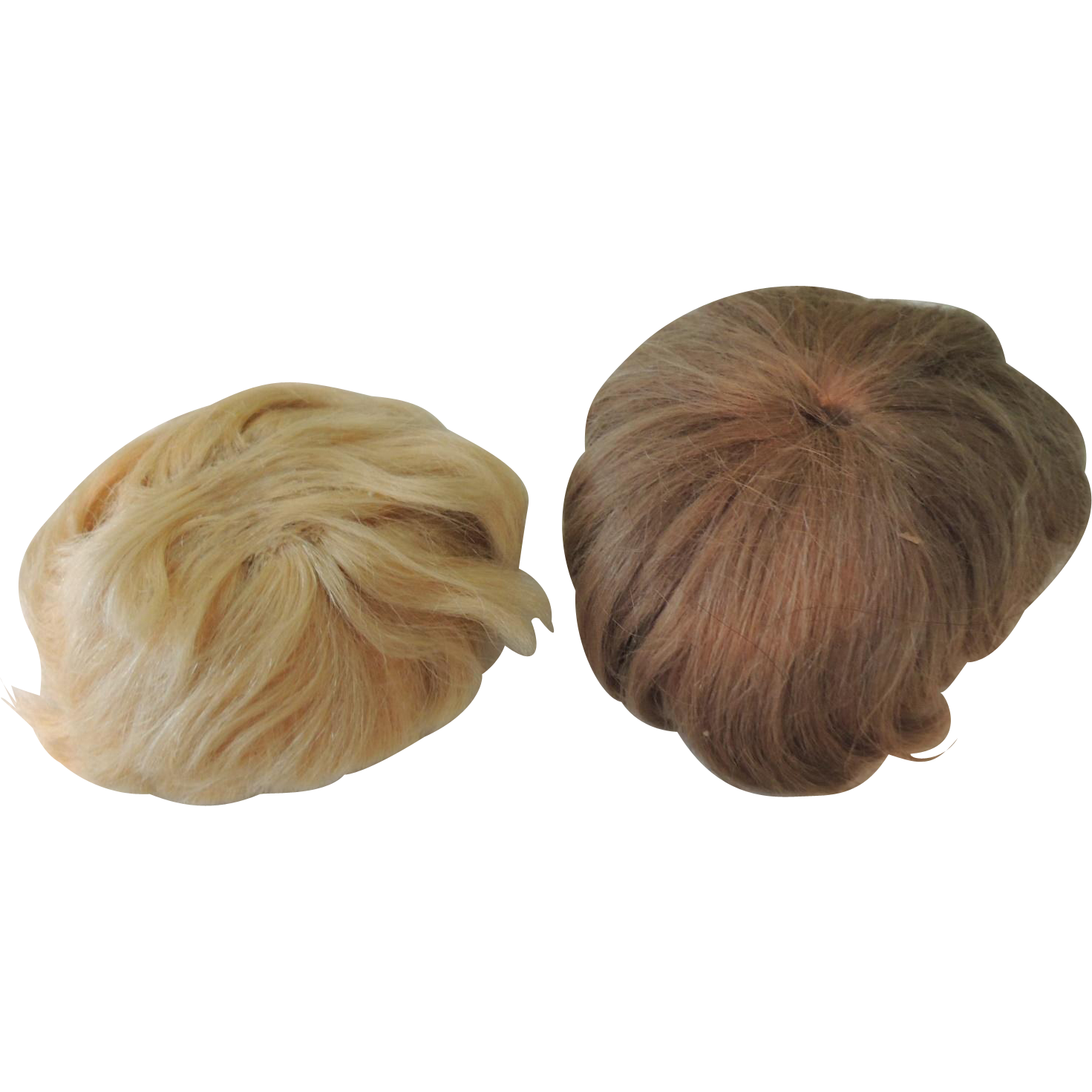 Two Nice Old Mohair Wigs for Boy or Baby Dolls