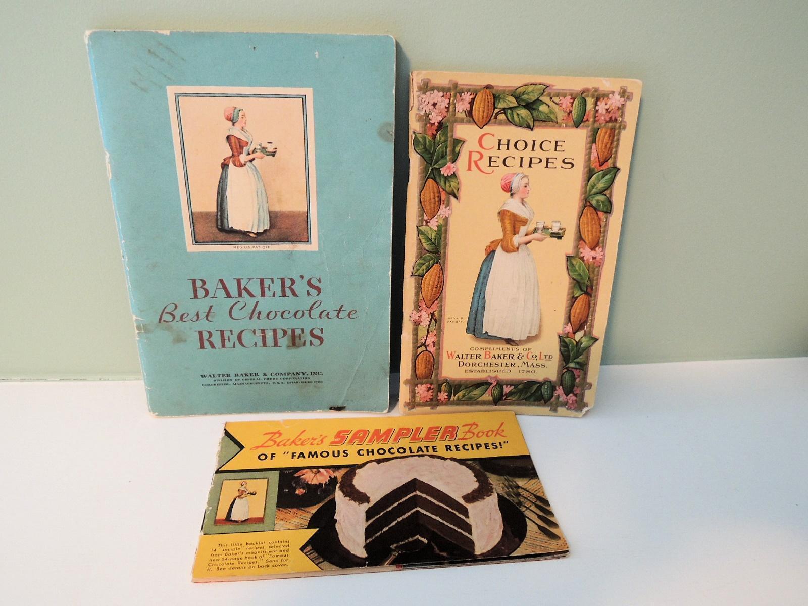 Three Original Walter Baker Chocolate Booklets * TLC