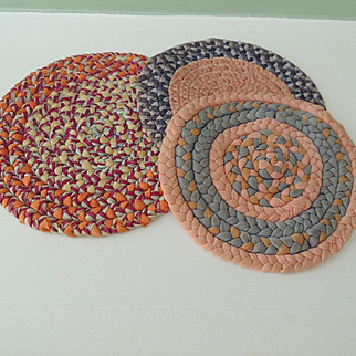 Three Lovely Smaller Sized Braided Doll House Rugs