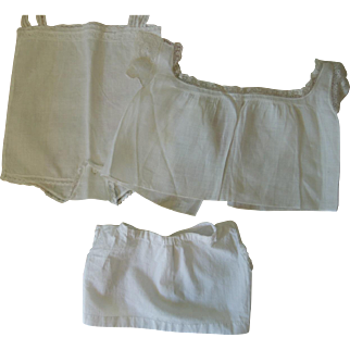 White Toddler Baby Doll Undies for Bisque or Composition * Very Sweet