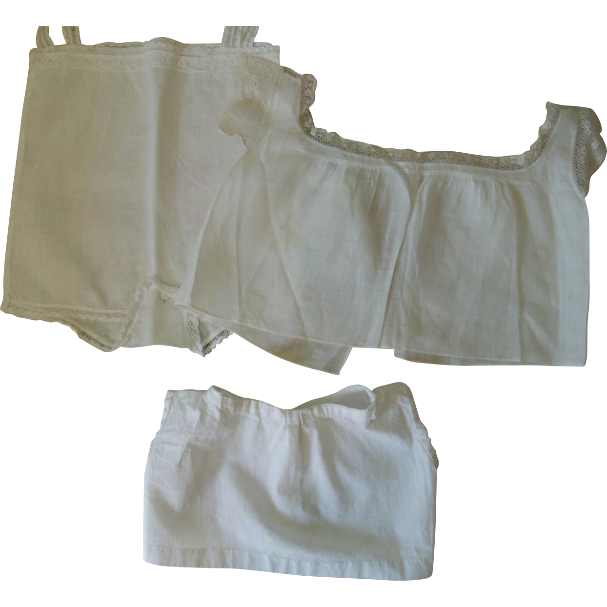 Sweet Toddler Baby Doll Undies for Bisque or Composition Dolls