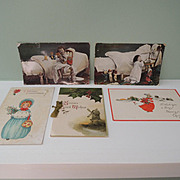 Sweet Christmas Postcards with Dolls Plus More