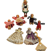 Vintage Wood Dolls from Poland, Clothespin Dolls and More