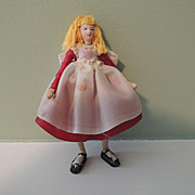 Unusual Little Alice-Type Cloth Doll House Girl