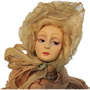 Rare Small 15 Inch Italian Lenci Boudoir Ballerina Doll