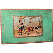 Lovely Early Box with Sweet Children Lithograh on Cover