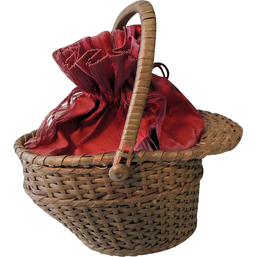 Woven Basket Purse : Lovely woven basket purse for larger french fashion sold