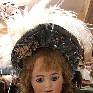 Lovely Blue Custom Made Bebe Doll Hat
