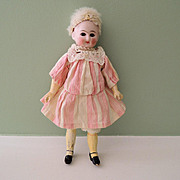 Adorable Little Closed Mouth Belton-Type with Skin Wig on Five Piece Body