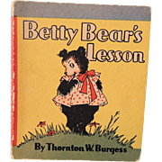 "Sweet Miniature Thornton Burgess Book ""Betty Bear's Lesson"""