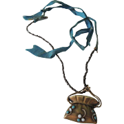 Lovely Pendant with Blue Stones for French Fashion Doll