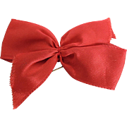 Vogue Ginny Red Satin Ribbon with Clip