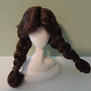 Lovely Brown Braided Replacement Wig for Ginny or Other 8 Inch Dolls