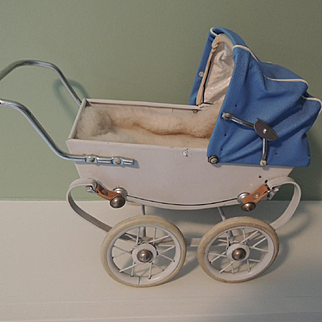 """French Doll Buggy Marked """"Made In France"""" by Red"""