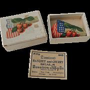 Dennison Company Patriotic Hatchet and Cherry Seals In Original Box