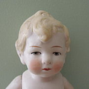 Nice 7 1/2 Inch Chubby All Bisque German Child ~ TLC