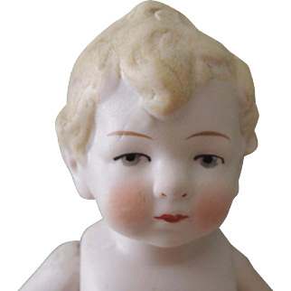 Larger 7 1/2 Inch Chubby All Bisque German Child ~ TLC