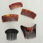 Five Hair Combs for Your French or German Fashion Dolls