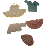 Crocheted Clothing for Small Dolls Or Teddy Bears